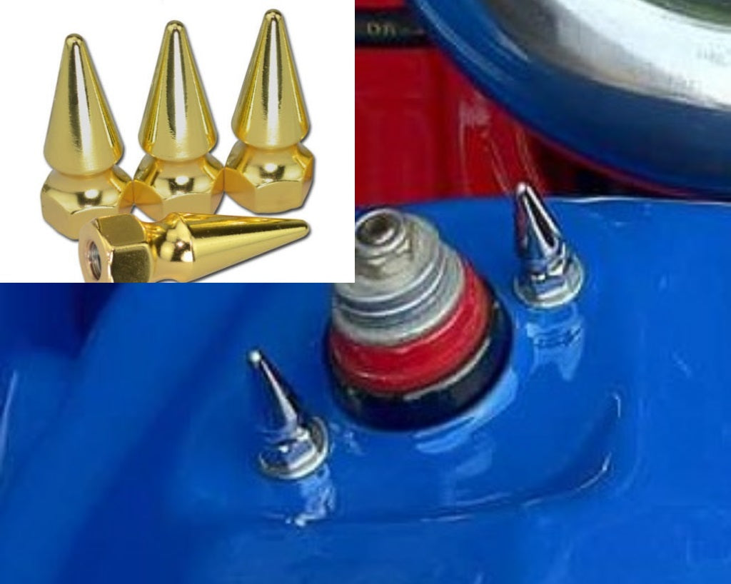 Honda Shock Strut Tower Suspension / Coilover Spike Nuts (24k Gold) - JapStyle.org