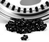 Black Plastic Rim Lip Replacement Wheel Rivets / Nuts
