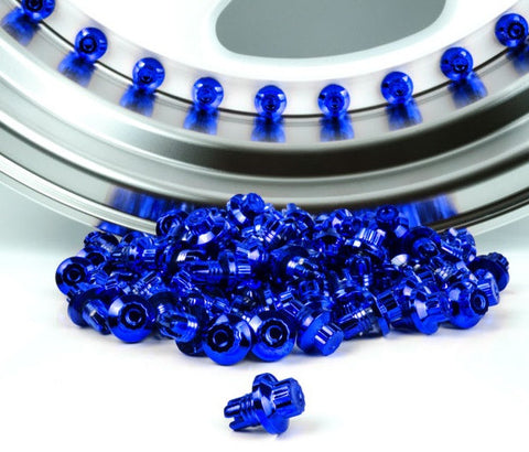 Blue Plastic Rim Lip Replacement Wheel Rivets / Nuts