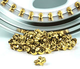 24k Gold Plastic Rim Lip Replacement Wheel Rivets / Nuts - JapStyle.org