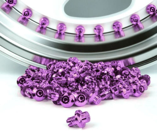 Purple Plastic Rim Lip Replacement Wheel Rivets / Nuts