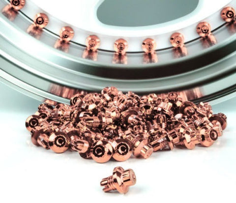 Rose Gold Plastic Rim Lip Replacement Wheel Rivets / Nuts