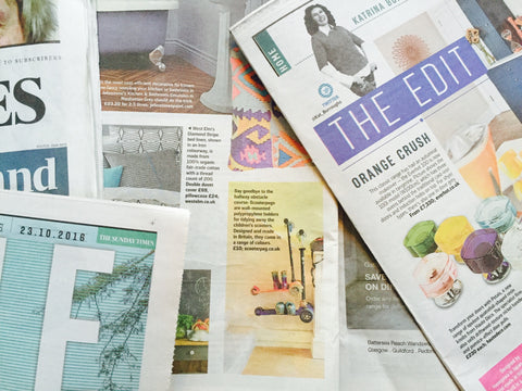Scooterpeg in The Sunday Times Homes 'The Edit' page