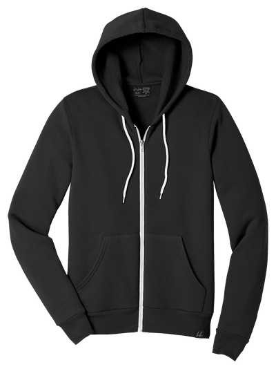 PRESALE - Made in Canada - The Healthcare Organic Bamboo Zip-Up Hoodie - Unisex - Black - Local Laundry