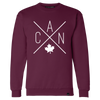 Made in Canada - CAN Crewneck Sweatshirt - Unisex - Maroon - Local Laundry