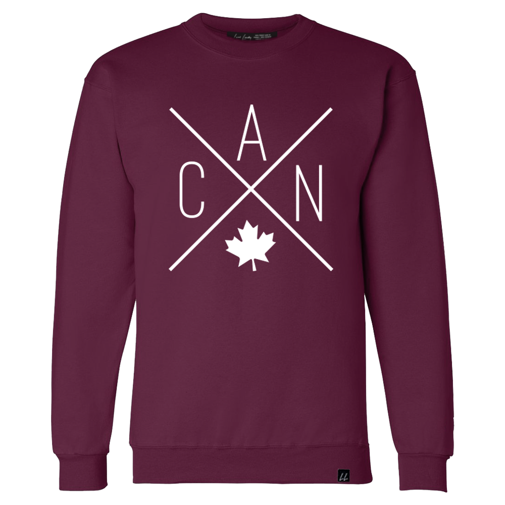 CAN Crewneck - Maroon 🇨🇦 - Local Laundry