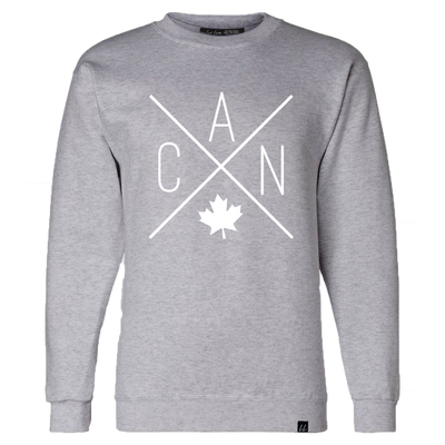 Made in Canada - CAN Crewneck Sweatshirt - Unisex - Sports Grey