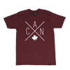 Made in Canada - CAN T-Shirt - Unisex - Maroon - Local Laundry
