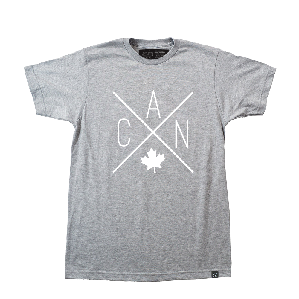 CAN T-Shirt - Sports Grey  🇨🇦 - Local Laundry