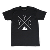 Made in Canada - YYC T-Shirt - X Design - Unisex - Black - Local Laundry