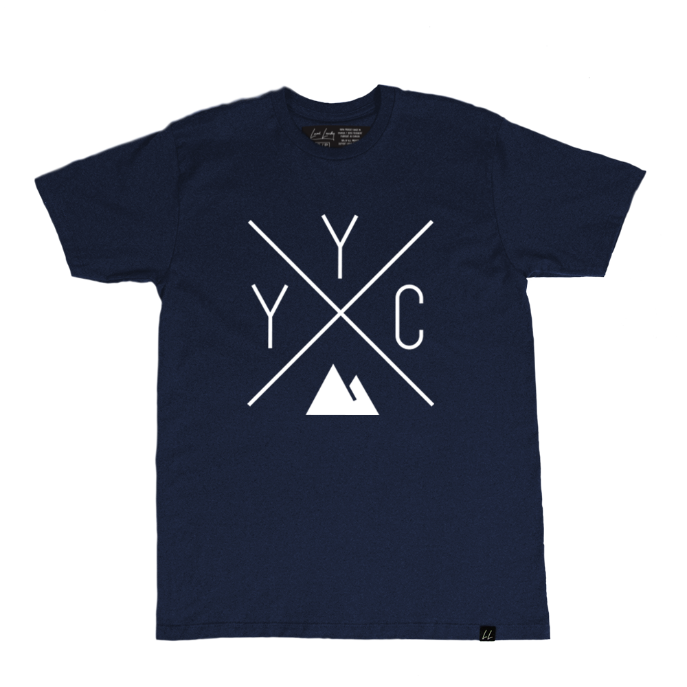 Made in Canada - YYC T-Shirt - X Design - Unisex - Navy