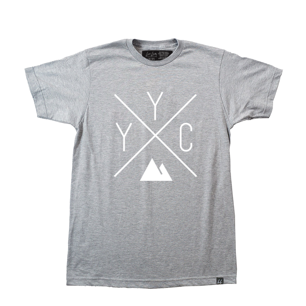 Made in Canada - YYC T-Shirt - X Design - Unisex - Sports Grey