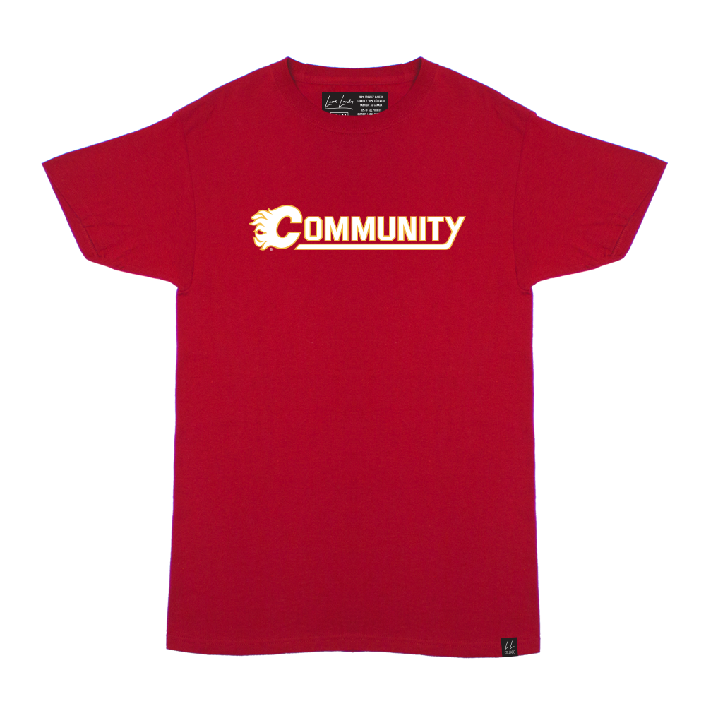 Calgary Flames Community T-shirt 🇨🇦 - Local Laundry