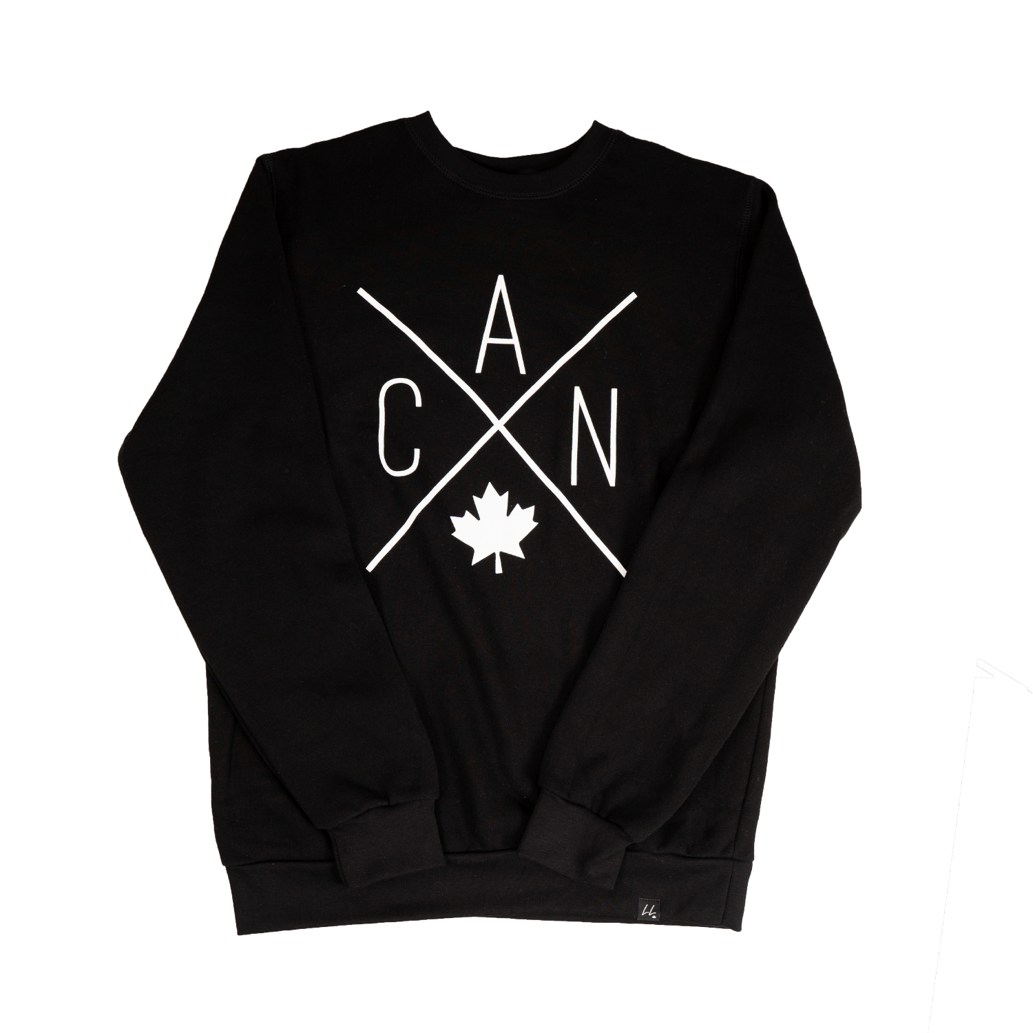 CAN Bamboo Crewneck - Black 🇨🇦 - Local Laundry