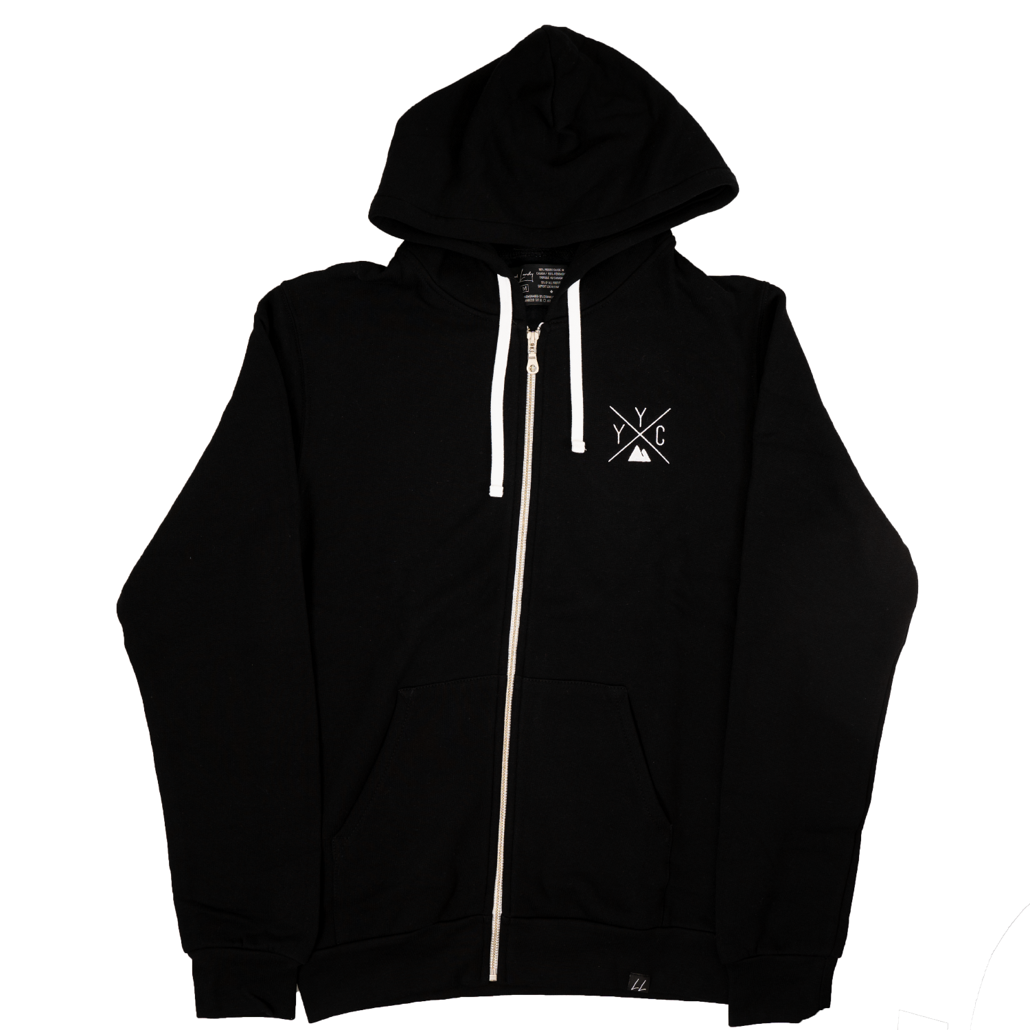 YYC Bamboo Zip-Up Hoodie - Black 🇨🇦 - Local Laundry