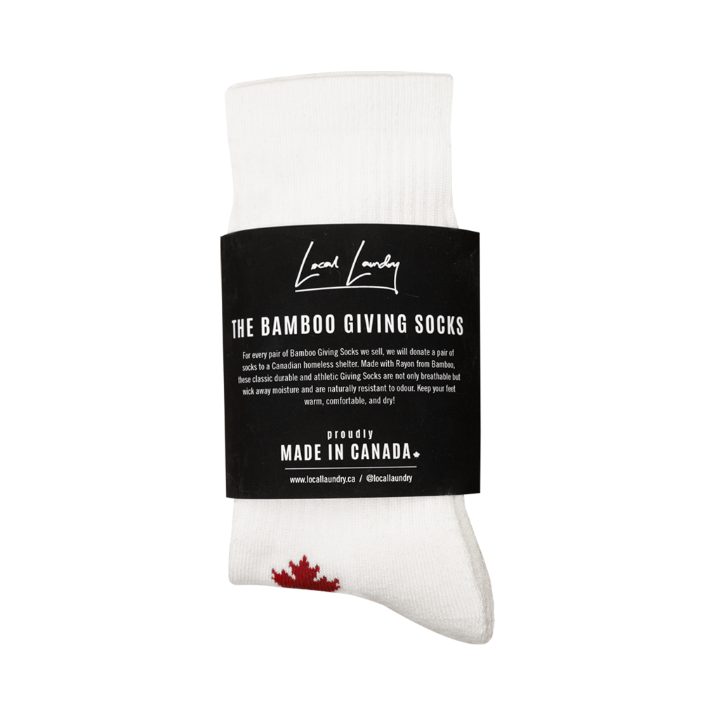 Bamboo Giving Socks - Buy One, Donate One to Someone in Need 🇨🇦 - Local Laundry