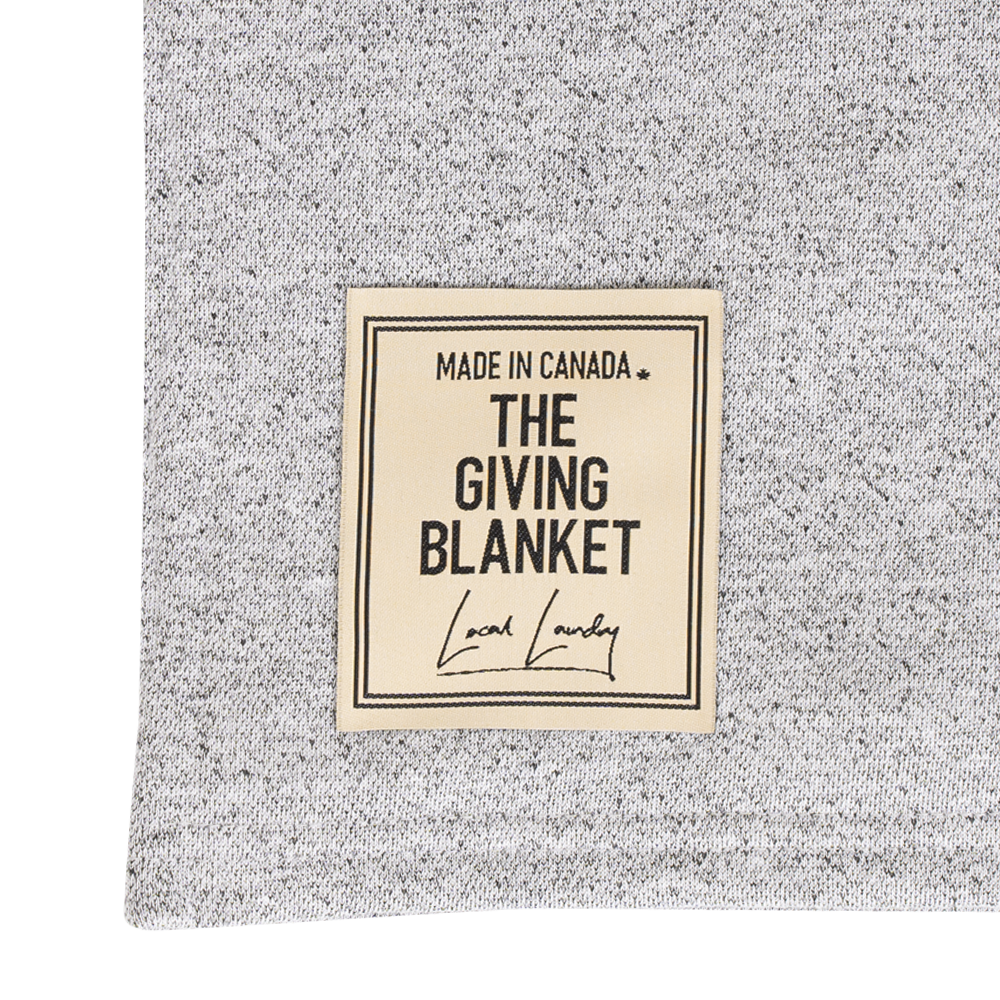 The Giving Blanket - Salt & Pepper 🇨🇦 - Local Laundry