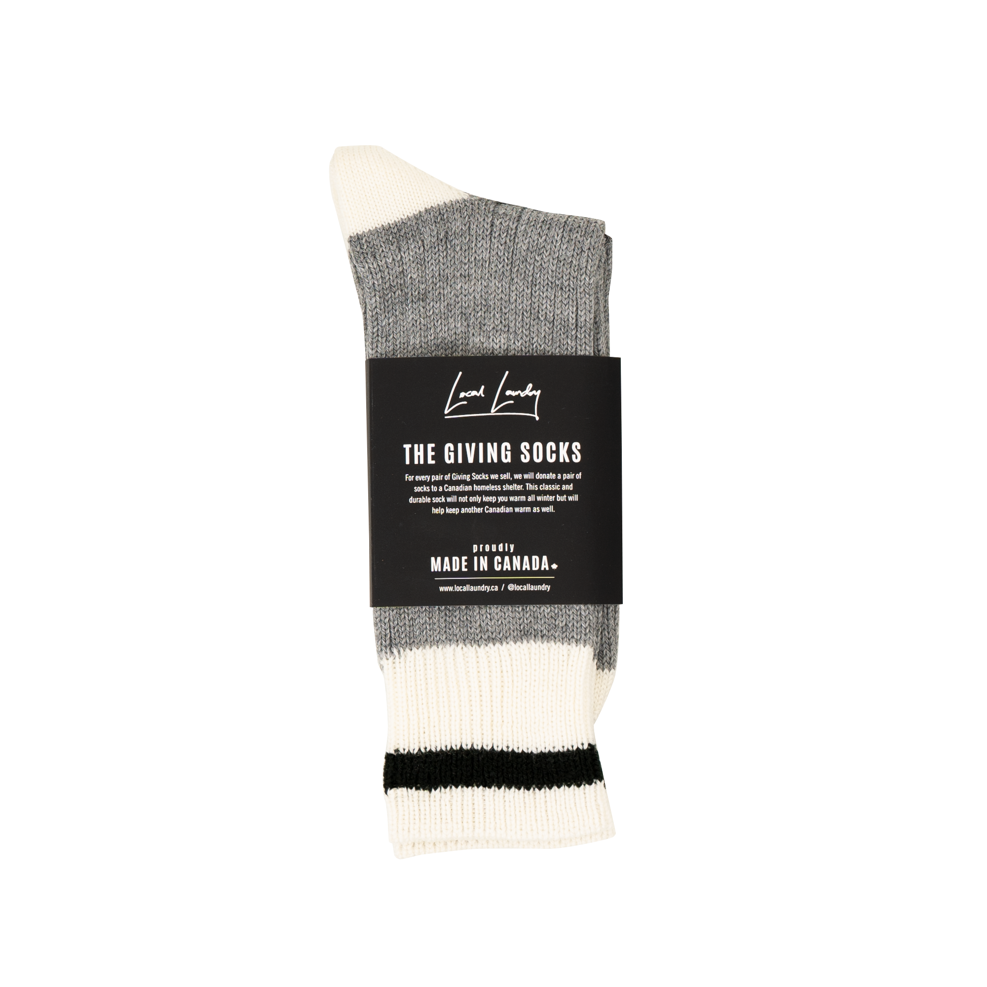 The Made in Canada Giving Socks - Black Stripe 🇨🇦 - Local Laundry