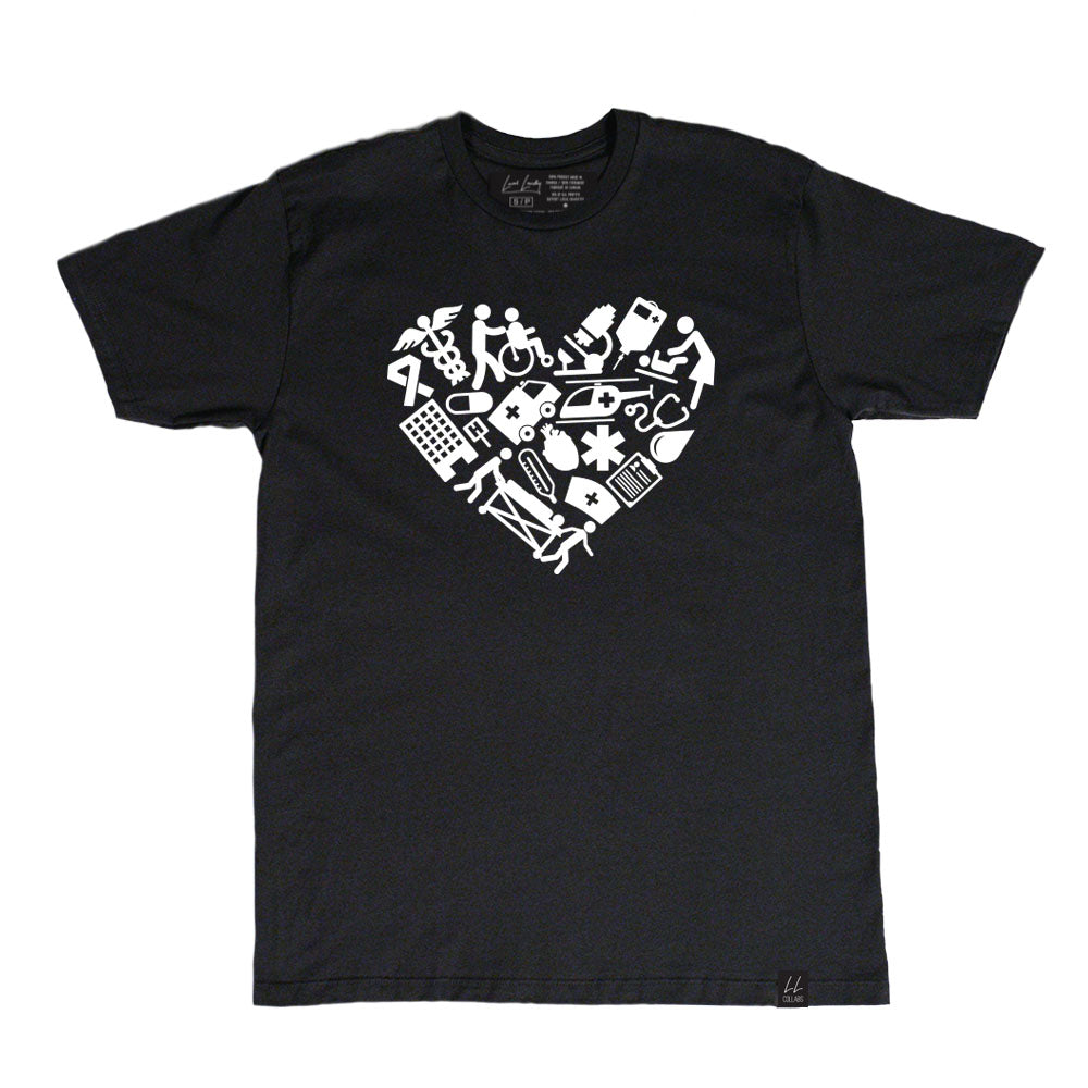 PRESALE - Made in Canada - The Healthcare Organic Bamboo T-Shirt - Unisex - Black - Local Laundry
