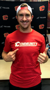 Made in Canada - Calgary Flames Community T-shirt - Unisex - Red - Local Laundry
