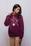 Made in Canada - CAN Hoodie Sweatshirt - X Design - Unisex - Maroon - Local Laundry