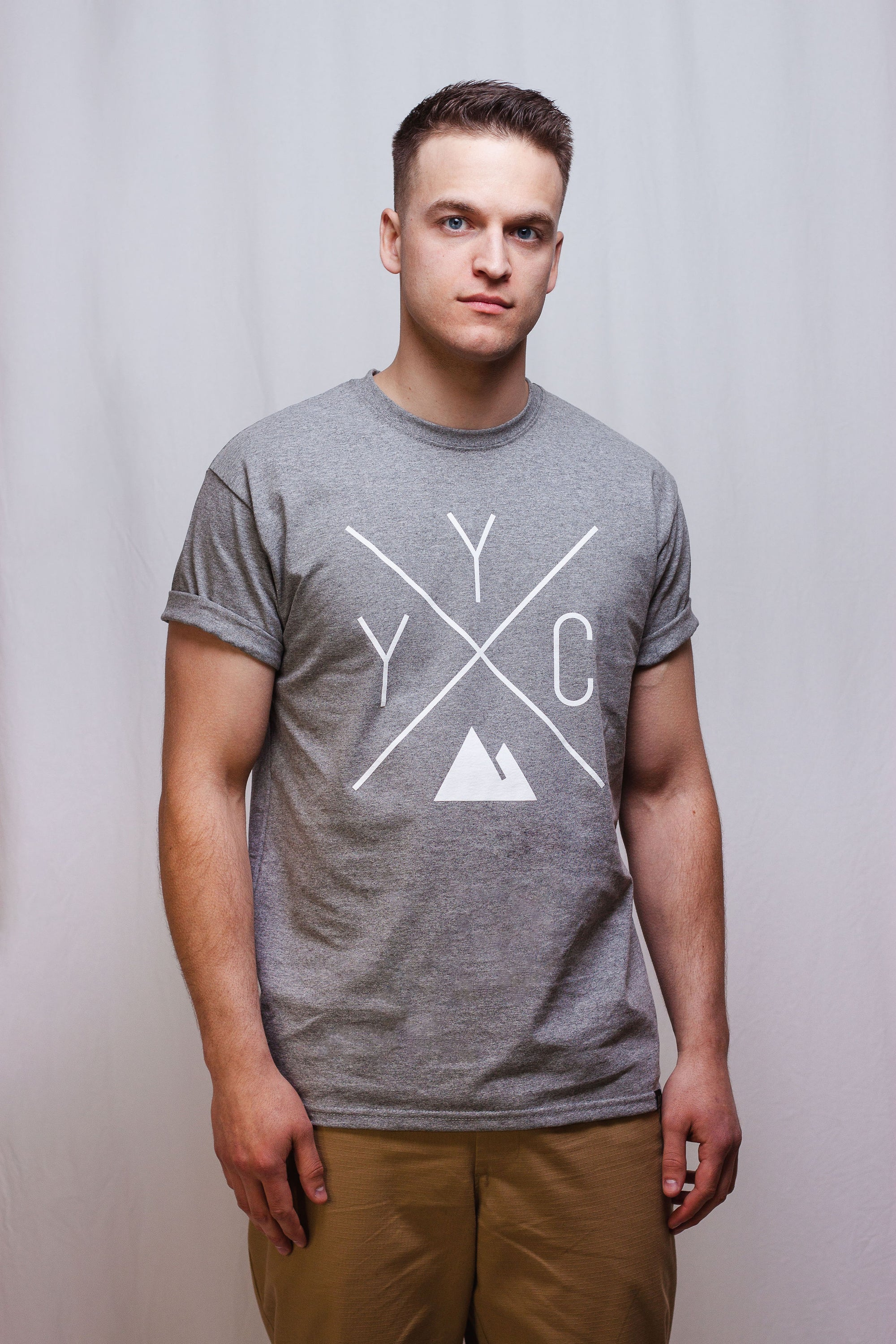 Made in Canada - YYC T-Shirt - X Design - Unisex - Sports Grey - Local Laundry