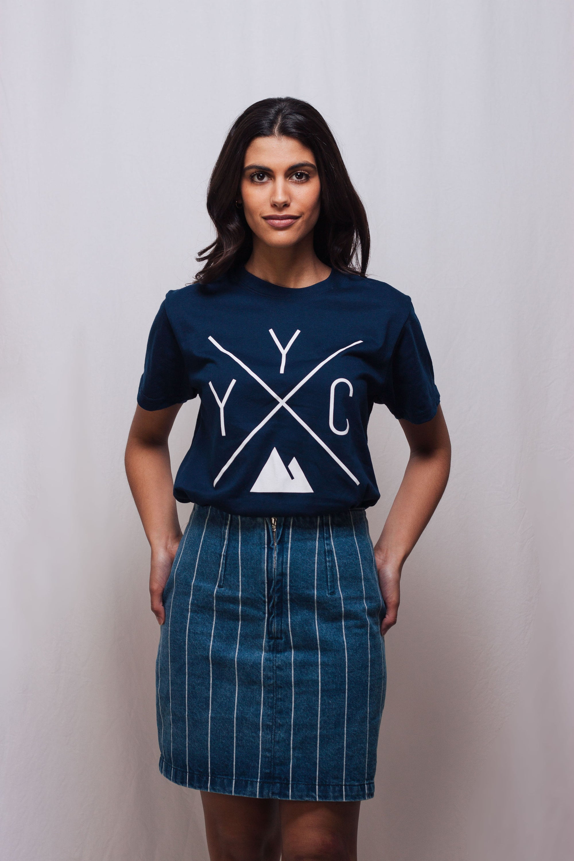 Made in Canada - YYC T-Shirt - X Design - Unisex - Navy - Local Laundry