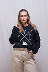 Made in Canada - YYC Crewneck Sweatshirt - X Design - Unisex - Black