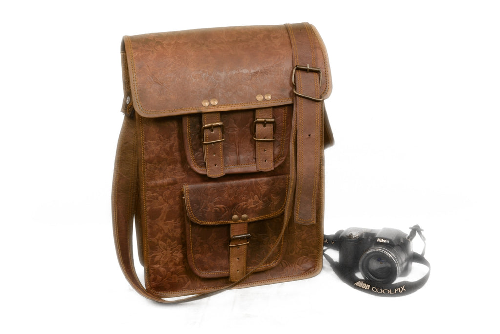 "Vintage 10"" Inch Leather Shoulder man small handbags Briefcase Messenger Bag For Man Woman & Student"