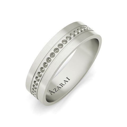 Sterling silver men's wedding bands