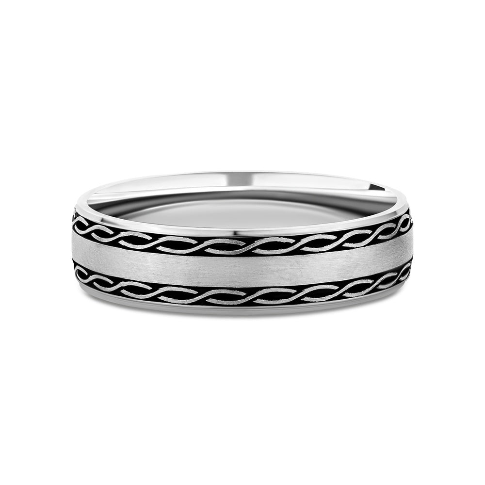 Helix sterling silver wedding band - Azarai Wedding Rings |  Abuja | Lagos | Nigeria