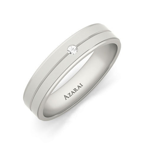 Aria sterling silver wedding band