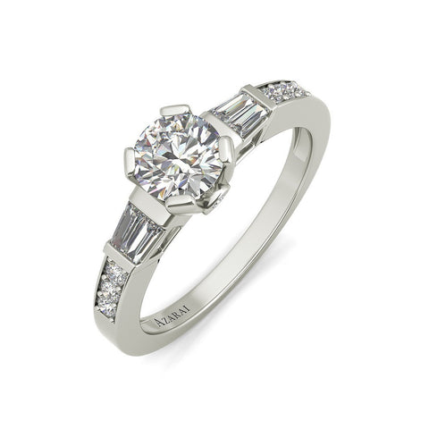 Anabel sterling silver engagement ring