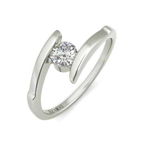 Amore sterling silver engagement ring