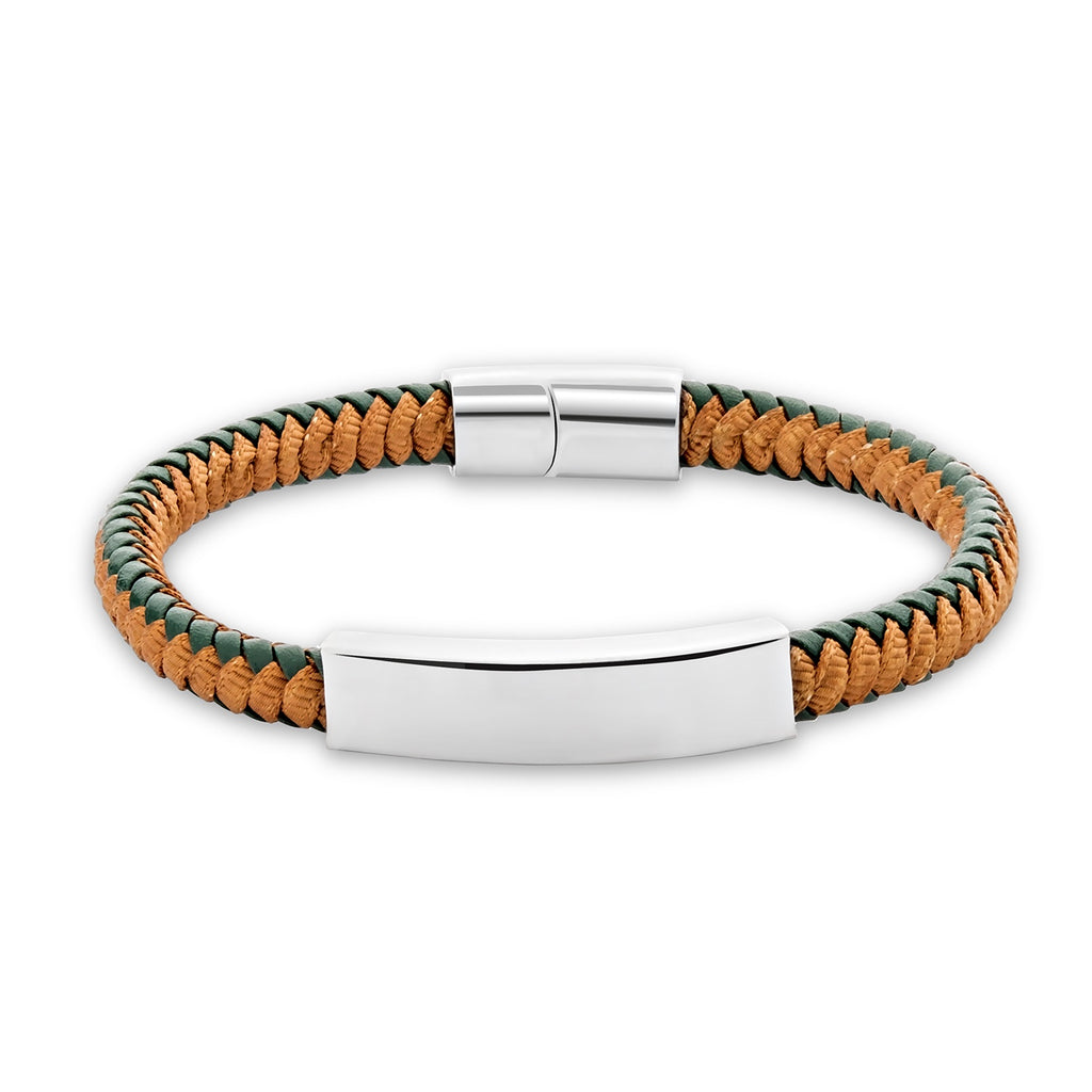 Naori leather bracelet for men - Azarai Wedding Rings |  Abuja | Lagos | Nigeria