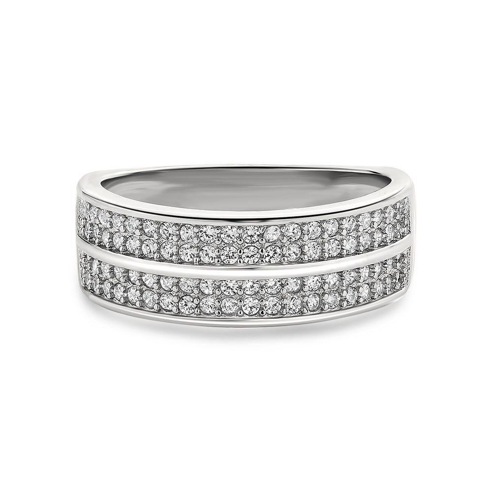 Imani sterling silver wedding band - Azarai |  Abuja | Lagos | Nigeria