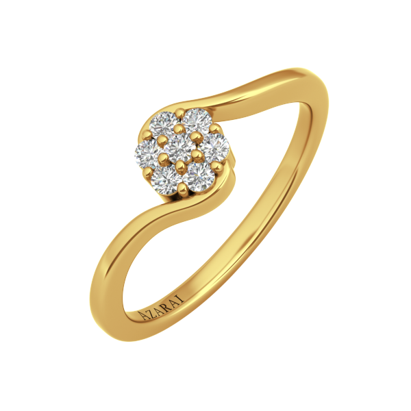 Fleur 9kt gold engagement ring - Azarai Jewelry |  Abuja | Lagos | Nigeria