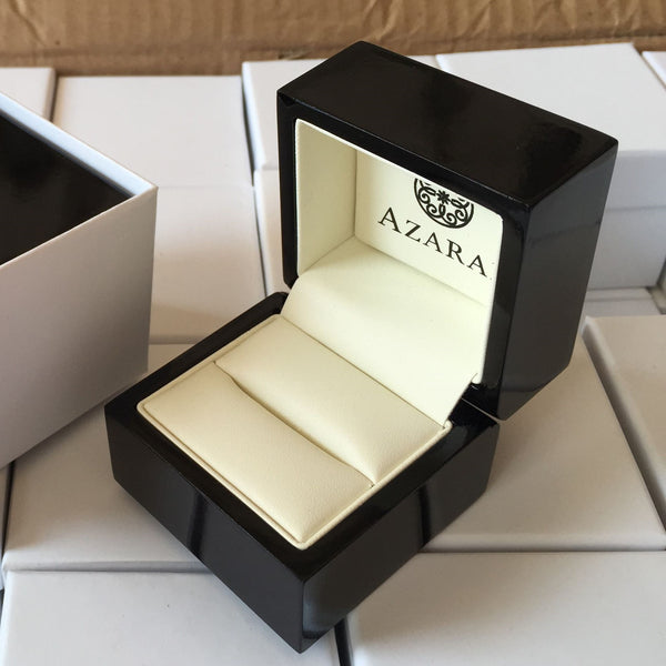 Premium wooden double ring box - Azarai Jewelry |  Abuja | Lagos | Nigeria
