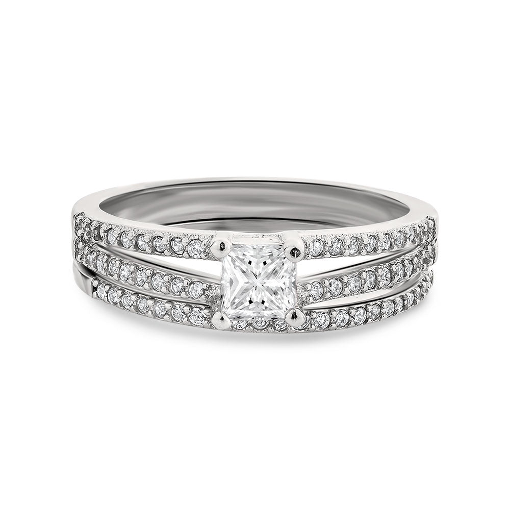 Dawn sterling silver bridal set - Azarai Wedding Rings |  Abuja | Lagos | Nigeria