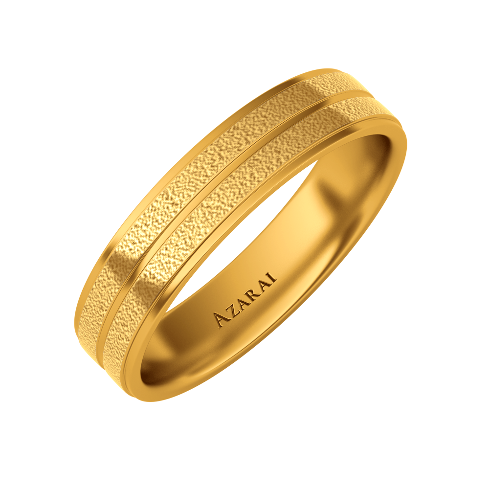 Ramsey 18kt gold wedding band 5mm - Azarai |  Abuja | Lagos | Nigeria