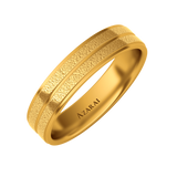 Ramsey 18kt gold wedding band 5mm - Azarai Jewelry |  Abuja | Lagos | Nigeria