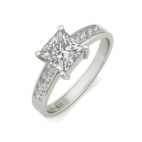 Polaris sterling silver engagement ring