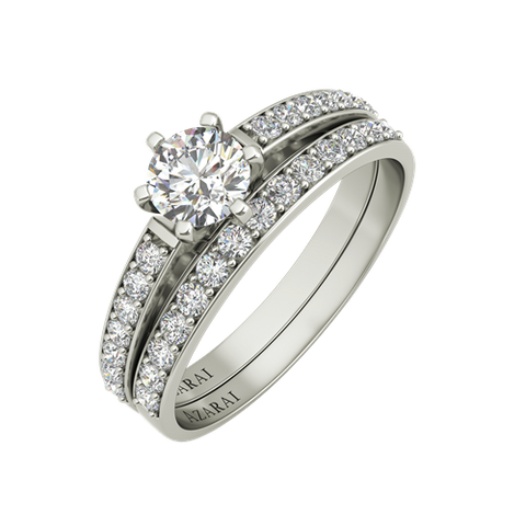 Allegra 9kt gold engagement set - Azarai Jewelry |  Abuja | Lagos | Nigeria