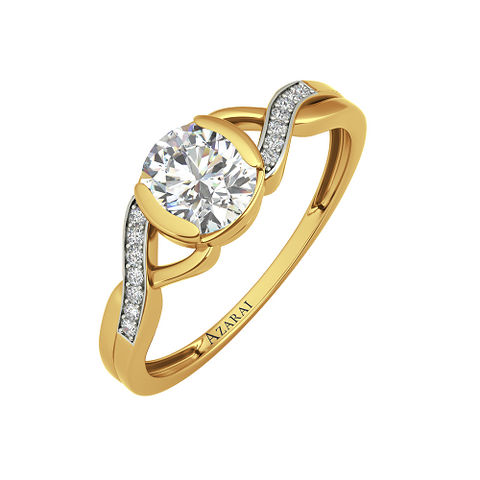 Anise 9kt gold engagement ring - Azarai Jewelry |  Abuja | Lagos | Nigeria