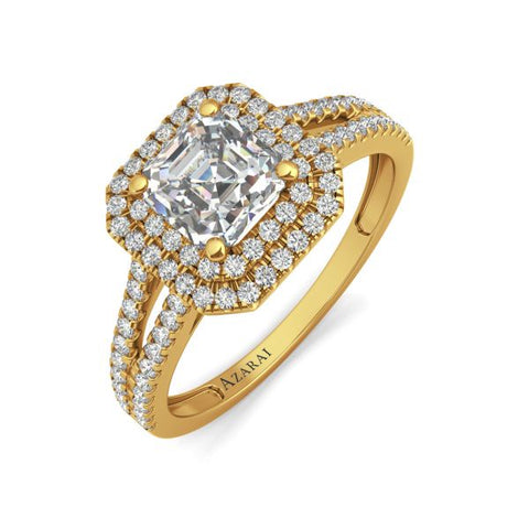 Beatrix 14kt gold engagement ring - Azarai Jewelry |  Abuja | Lagos | Nigeria