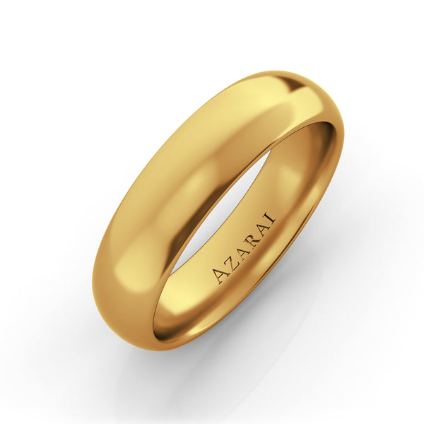 Solis 18kt gold wedding band 5mm - Azarai Jewelry |  Abuja | Lagos | Nigeria