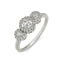 Lumiere sterling silver engagement ring