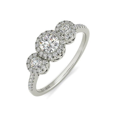 Lumiere sterling silver engagement ring - Azarai Jewelry |  Abuja | Lagos | Nigeria