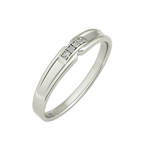 Sienna sterling silver wedding band