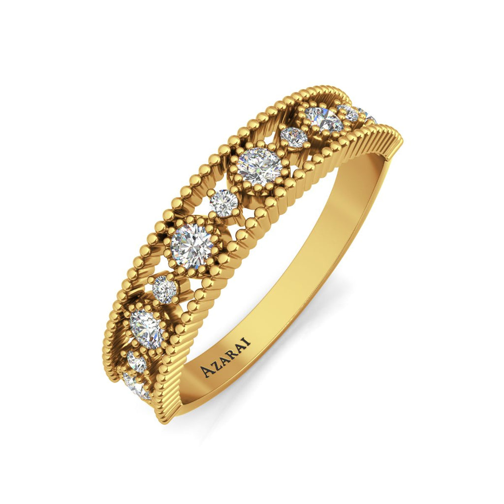 Isolde 9kt gold wedding band - Azarai Wedding Rings |  Abuja | Lagos | Nigeria